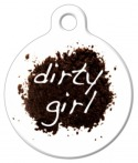 image: Dirty Girl Dog Tag