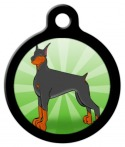 image: Doberman Dog Identification Tag