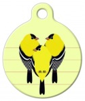 image: Gold Finches Dog ID Tag
