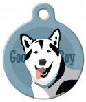 image: Good Boy Husky Dog ID Tag