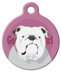 image: Good Girl English Bulldog ID Tag