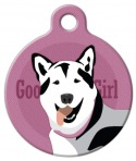 image: Good Girl Husky Dog ID Tag
