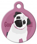 Good Girl Pug Dog ID Tag