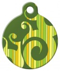 Green Stripe Swirl Pet ID Tag