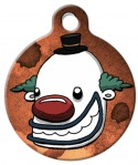image: Happy Clown Dog ID Tag