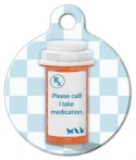 image: I Take Medication Pet ID Tag
