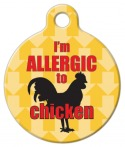 image: I'm Allergic to Chicken Dog Tag