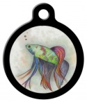 Beatty the Betta Pet Identification Tag