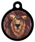 image: Watercolor Lion Pet Name Tag