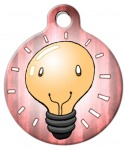 image: Happy Light Bulb Pet ID Tag