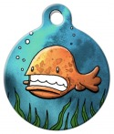 image: Little Orange Fish Cat ID Tag