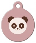 Panda Bear Dog Name Tag