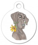 Image: Blue Great Dane with Daisy Dog Name Tag