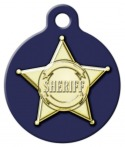 Sheriff Badge Dog ID Tag