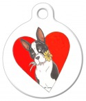 Image: Spring Love Boston Terrier Dog ID Tag