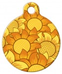 image:Sunflowers Pet ID Tag