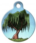 image: Willow Tree Dog Name Tag