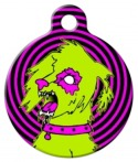 image: Zombie Poodles on  the Loose Dog Tag