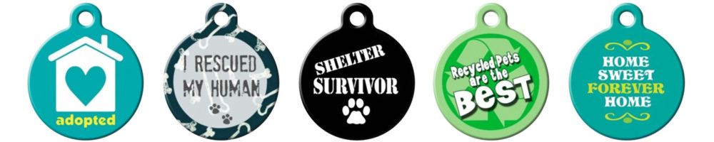 98d2891562b9 It's a popular hashtag and one we believe in. Rescue dogs are the best, so  let other people know by choosing an adoption/rescue pet ID tag.