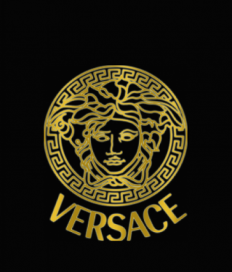 versace gold Dog Tag by Dog Tag Art