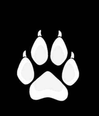 White Wolf Paw Dog Tag by Dog Tag Art