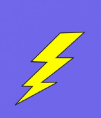 Lightning Bolt Dog Tag By Dog Tag Art
