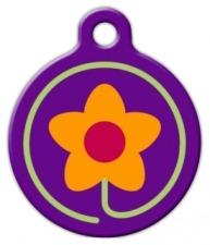 Spring Fling Lupine Pattern Dog Identity Tag