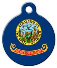 Idaho Flag Pet Name Tag
