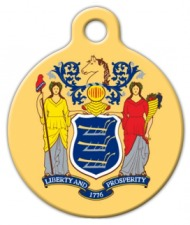 New Jersey Dog Collar Tag