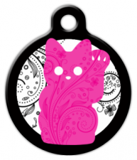 Pink Kitty Cat ID Tag