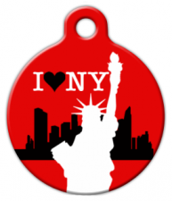 I Love New York Dog Collar Tag