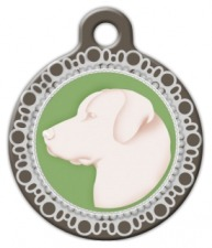 Faux Cameo Pendant Dog Tag