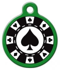 Poker Chip Pet Collar Tag