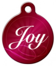 Holiday Joy Dog ID Tag