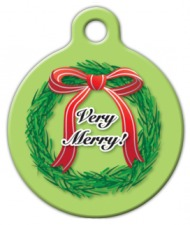Christmas Wreath ID Tag
