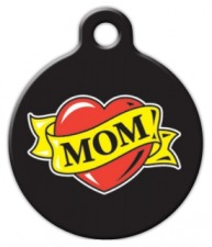 Mom Heart Tattoo Pet ID Tag