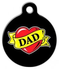Dad Heart Tattoo Custom Pet Tag
