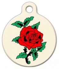 Classic Rose Tattoo Pet Tag