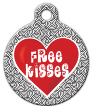 Free Kisses Dog Identity Tag