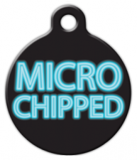 Micro Chipped Dog Tag for Dogs