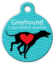 Greyhound Love Dog Tag for Dogs