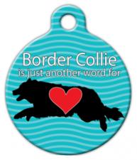 Border Collie Love Dog Collar Tag