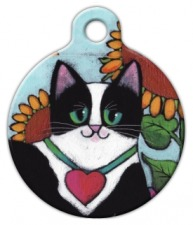 Tuxedo Cat ID Tag