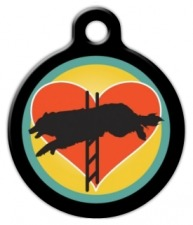 Agility Dog Heart Pet Identity Tag
