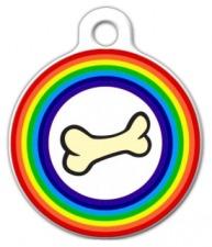 Rainbow Bone Dog Tag for Dogs