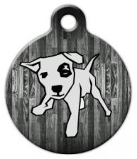 Wood Panel Dog ID Tag