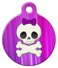 Girlie Skull Custom Dog Tag