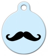 Happy Moustache ID Tag