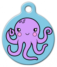 Octopus Pet Identification Tag