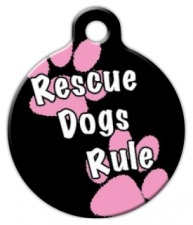 Rescue Dogs Rule Girl ID Tag